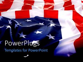 PowerPlugs: PowerPoint template with flapping USA flag with wave