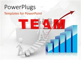 PowerPlugs: PowerPoint template with a flight of stairs with a text that spells out the word 'Team '