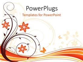 PowerPoint template displaying a floral background with place for text