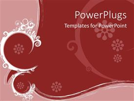 PowerPoint template displaying a floral background in two different colors
