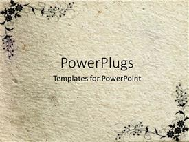 PowerPoint template displaying a floral representation with white background