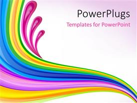 PowerPoint template displaying florat art design over pink background