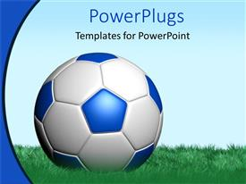 PowerPlugs: PowerPoint template with a football in the grass field