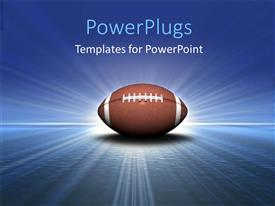 PowerPlugs: PowerPoint template with football with light and blue coor