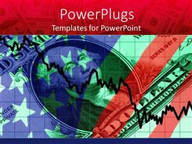 PowerPlugs: PowerPoint template with foreign exchange chart on several dollar bills