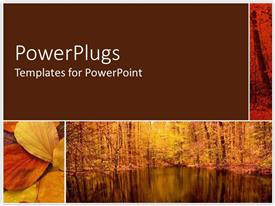 PowerPlugs: PowerPoint template with a forest and a number of leaves