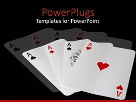 PowerPlugs: PowerPoint template with all four complete aces of a deck of cards