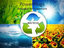 PowerPlugs: PowerPoint template with four tiles showing different seasons with a recycle symbol