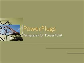 PowerPoint template displaying framework tower rising into blue sky in small square