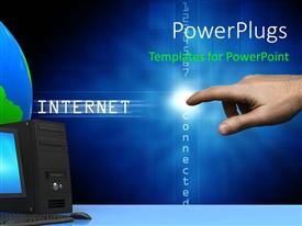 PowerPlugs: PowerPoint template with a hand touching a white light and a text beside it