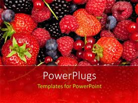 PowerPlugs: PowerPoint template with fresh mix of fruits, strawberries and vine fruit
