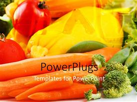 PowerPlugs: PowerPoint template with a lot of vegetables with place for text