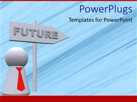 PowerPlugs: PowerPoint template with future street sign as a metaphor business man success opportunity