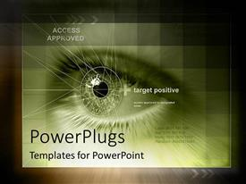 PowerPlugs: PowerPoint template with future technology approves access and identity issues on black background
