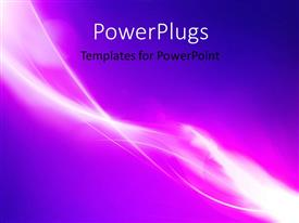PowerPlugs: PowerPoint template with futuristic blue and pink colored abstract streak glowing