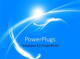PowerPlugs: PowerPoint template with futuristic galaxy with blue color