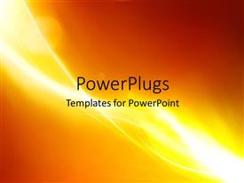 PowerPlugs: PowerPoint template with futuristic glowing waves with yellow and brown gradient