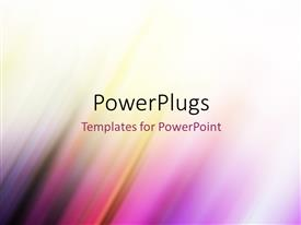 PowerPlugs: PowerPoint template with futuristic technology abstract colorful stripe background design
