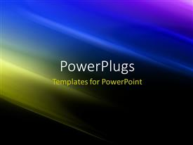 PowerPlugs: PowerPoint template with futuristic Technology Abstract Stripe Background