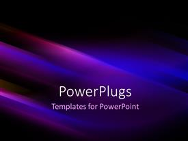 PowerPlugs: PowerPoint template with futuristic technology abstract stripe background in blue and black
