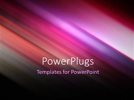 PowerPlugs: PowerPoint template with futuristic technology abstract stripe background design in purple and pink