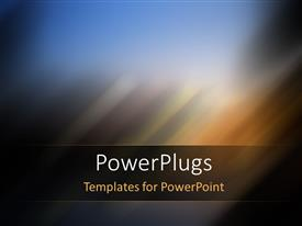 PowerPlugs: PowerPoint template with futuristic Technology Abstract Stripe Background with blur effect