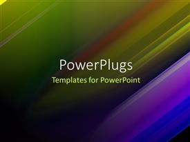 PowerPlugs: PowerPoint template with futuristic Technology Abstract Stripe Background Design