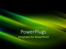 PowerPlugs: PowerPoint template with futuristic technology abstract stripe green color background with light