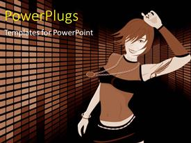 PowerPlugs: PowerPoint template with a girl dancing with a colorful background