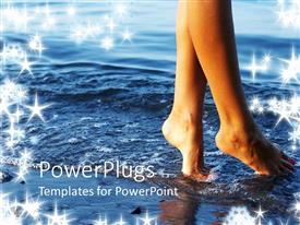 PowerPlugs: PowerPoint template with a girl enjoying on the beach
