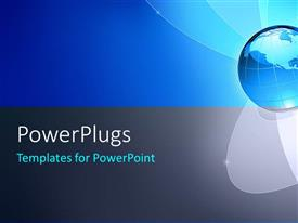 PowerPlugs: PowerPoint template with global business concept with blue and black color