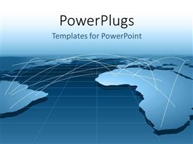 PowerPlugs: PowerPoint template with global business relationship distribution channels or networking using map