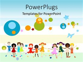 PowerPlugs: PowerPoint template with global diversity graphics and collaboration of team joining world efforts and communication as a metaphor