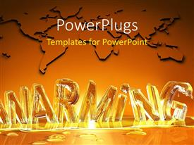 PowerPlugs: PowerPoint template with the global warming effecting being shown by melting letters