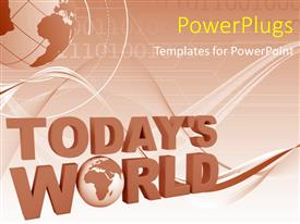 PowerPlugs: PowerPoint template with a globe in the background with two words