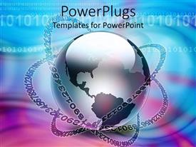 PowerPlugs: PowerPoint template with a globe being encircled by a lot of numbers
