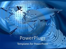 PowerPlugs: PowerPoint template with a globe with binary numbers in the background