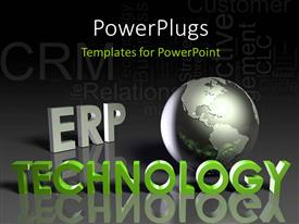 PowerPlugs: PowerPoint template with a globe with a black background