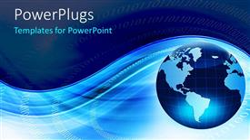 PowerPlugs: PowerPoint template with globe blue and white background