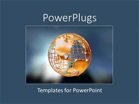 PowerPlugs: PowerPoint template with a globe with bluish background and place for text