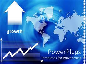 PowerPlugs: PowerPoint template with a globe with a bluish background and place for text