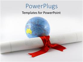 PowerPlugs: PowerPoint template with a globe with a degree in front