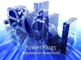 PowerPlugs: PowerPoint template with a globe with .edu in the background