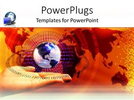 PowerPlugs: PowerPoint template with globe floating above human hand with map in background