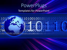 PowerPlugs: PowerPoint template with a globe with a lot of binary numbers in the background