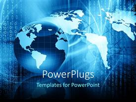 PowerPlugs: PowerPoint template with a globe with map in the background