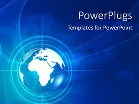 PowerPlugs: PowerPoint template with a globe with a map in the background and place for text