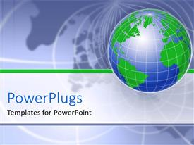 PowerPlugs: PowerPoint template with a globe with map of the Earth in the background