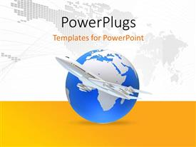 PowerPlugs: PowerPoint template with a globe with map of the world in background