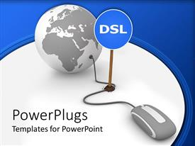 PowerPlugs: PowerPoint template with a globe with mouse connected to it